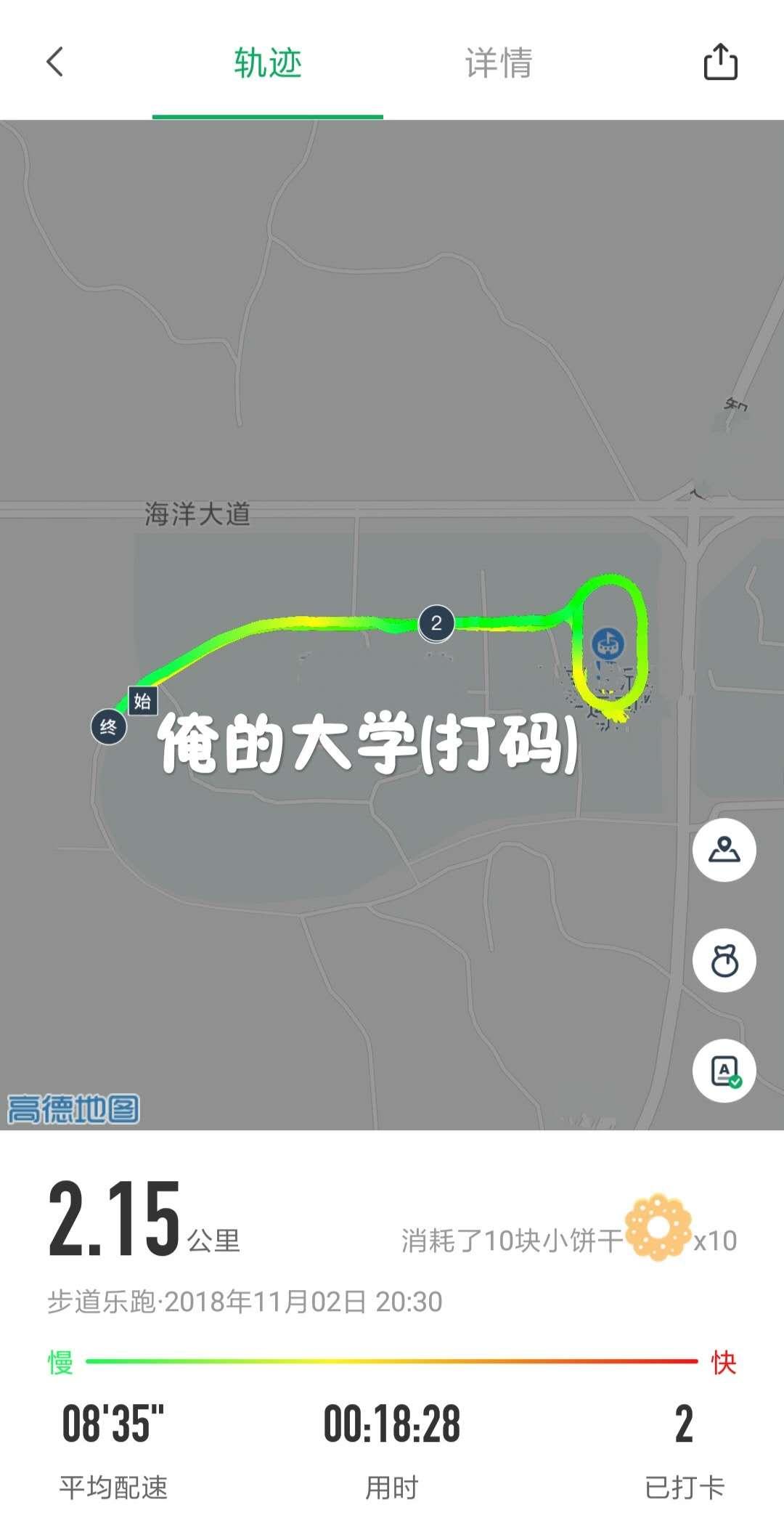 跑步轨迹图